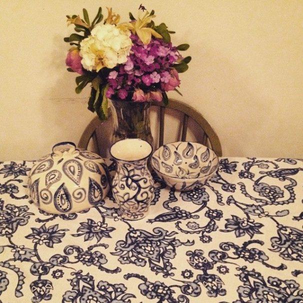 Blue pottery theme