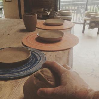Plates in progress