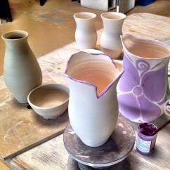 Pottery in progress